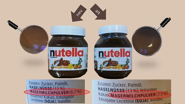 הרכיבים בגרמניה שונים במתכון המקורי. במתכון החדש: אחוז אבקת החלב יהיה זהה לזה שבישראל (צילום מסך מעמוד הפייסבוק Verbraucherzentrale Hamburg) (צילום מסך מעמוד הפייסבוק Verbraucherzentrale Hamburg)