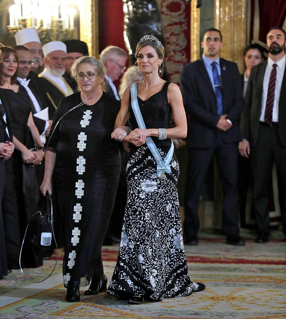 Нехама Ривлин и королева Летиция. Фото: МСТ