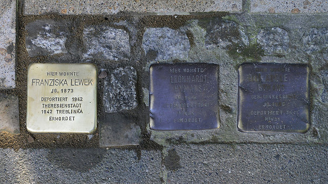Similar memorial plaques from Germany (Photo: Getty Images)