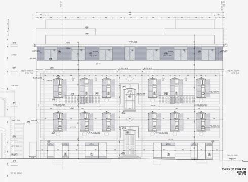 שתי קומות המגורים בנויות מעל קומה מסחרית  (תוכנית: גל פלג אדריכלים)