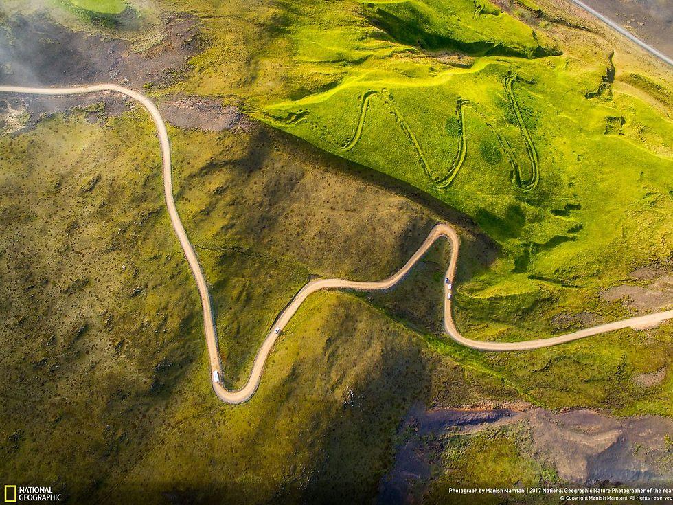 הנופים הירוקים של איסלנד במבט על (צילום: Manish Mamtani)