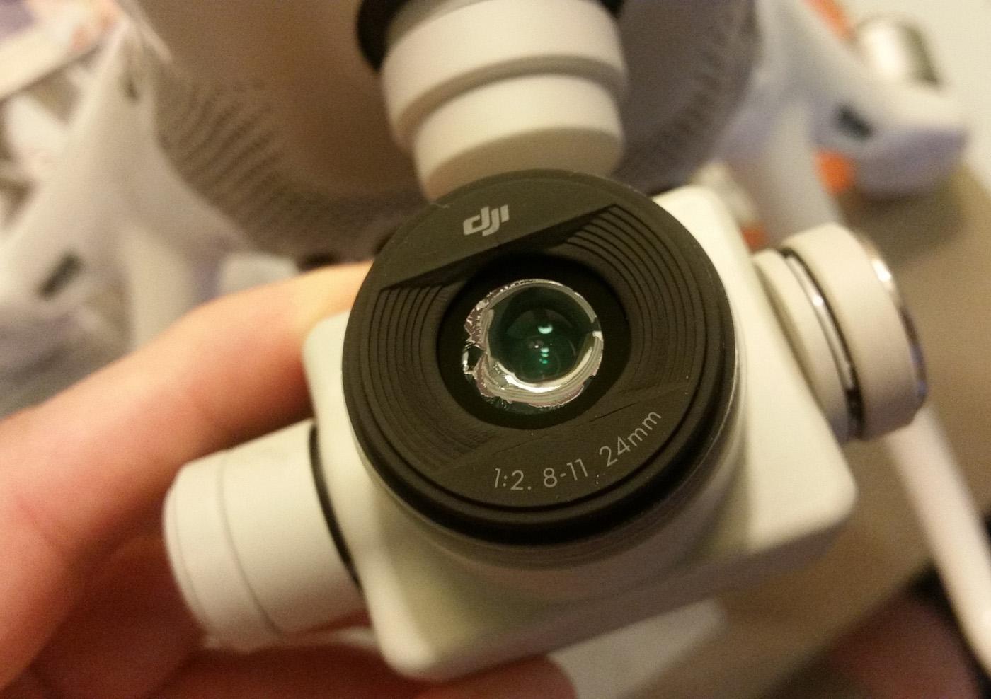 החלק המותך במצלמה של מרום (צילום: ארז מרום) (צילום: ארז מרום)