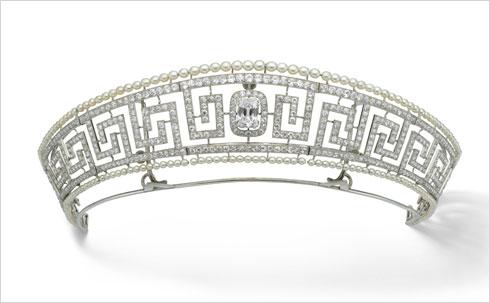 כתר יהלומים של ''קרטייה'', שניצל מהאוניה לוסיטה, פריז 1909 (Image: © Cartier)
