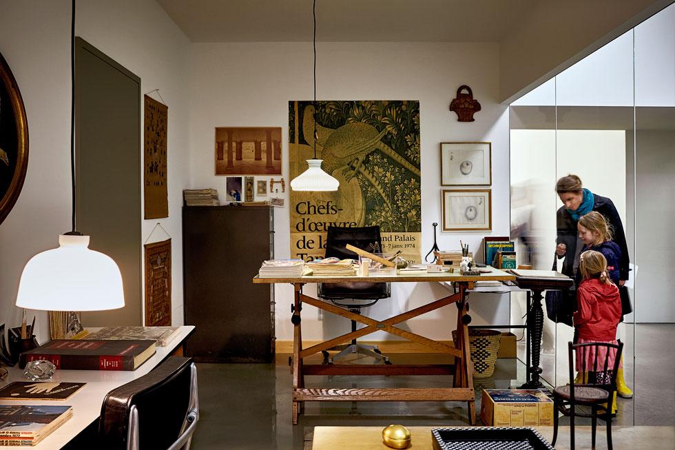 מוזיאון vitra, שווייץ: חדר העבודה המשוחזר של צ'ארלס אימס (Image: © Vitra Design Museum, Photo: Mark Niedermann)
