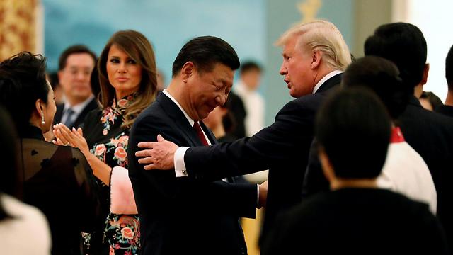 """נשיאי ארה""""ב וסין בימים יפים יותר (צילום: רויטרס) (צילום: רויטרס)"""