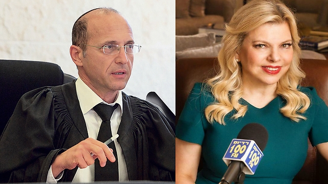 Judge Avrahami (L) objected to the manner in which the plaintiff against Mrs. Netanyahu characterized herself as a 'slave' (Photo: Ohad Zwigenberg, Alex Lipkin)