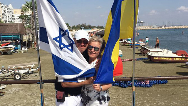 Timoshenko (R) and her Israeli partner are suing the Administration of Population and Immigration