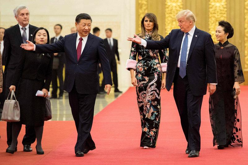 Президенты и первые леди двух великих держав: США и Китая. Фото: AFP