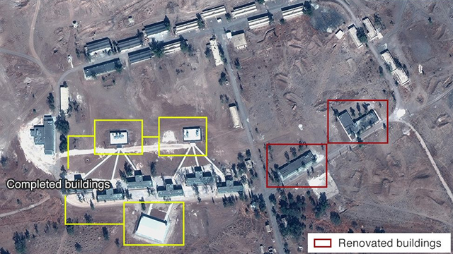The Iranian base as reported by BBC (Photo: Digital Globe, McKenze intelligence Services, BBC)