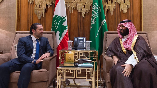 Hariri and bin Salman. How does the Saudi crown prince stand to gain from the Lebanese prime minister's tumultuous resignation? (Photo: Reuters)