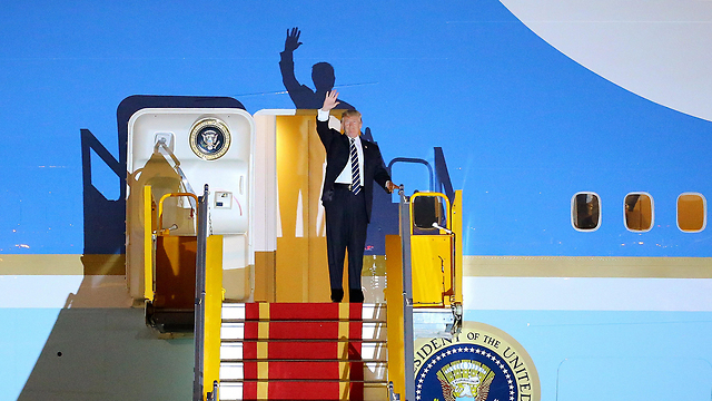 Trump touched down in Hanoi (Photo: EPA)