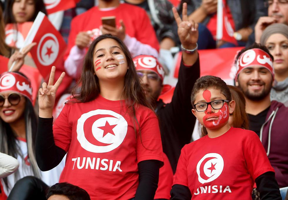 האוהדים הטוניסאים. שם הסיפור שונה (צילום: AFP) (צילום: AFP)