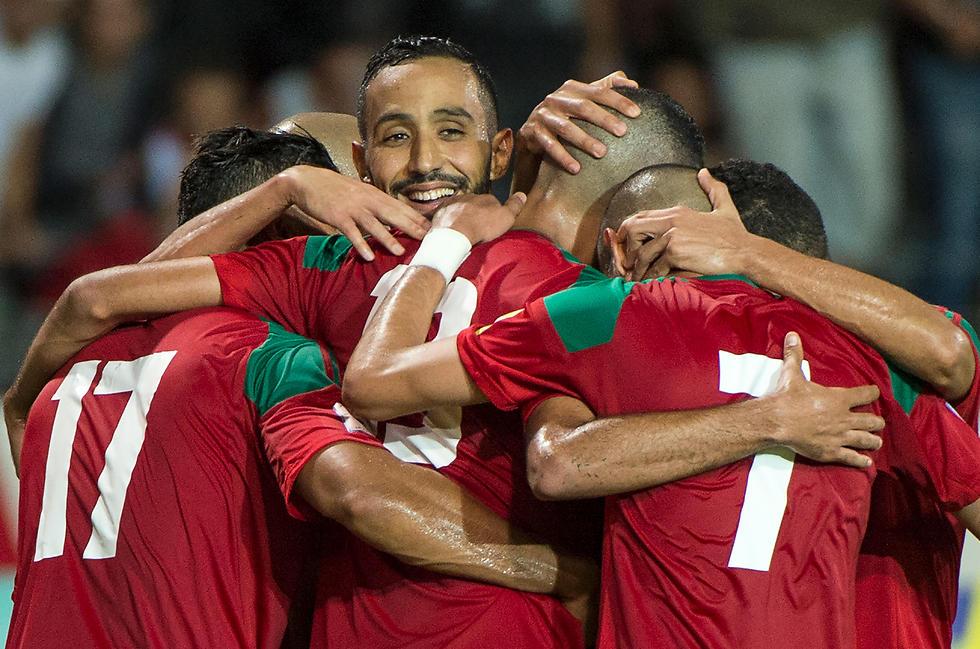 שחקני נבחרת מרוקו. רובם למדו כדורגל באירופה (צילום: AFP) (צילום: AFP)