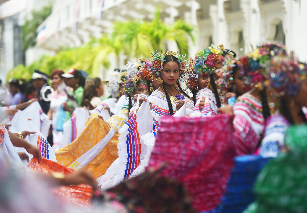 בפנמה חגגו את יום השנה ה-114 לעצמאות מקולומביה (צילום: AFP) (צילום: AFP)
