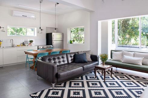 דירה קטנה לחמש נפשות בעיצוב דלית לילינטל (צילום: גלית דויטש)