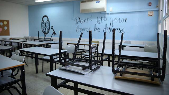 """יו""""ר מועצת התלמידים: """"תומכים במורים - אבל מודאגים מהמבחנים"""" (צילום: מוטי קמחי)"""