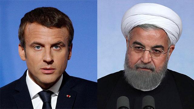 Макрон и Рухани. Фото: АР