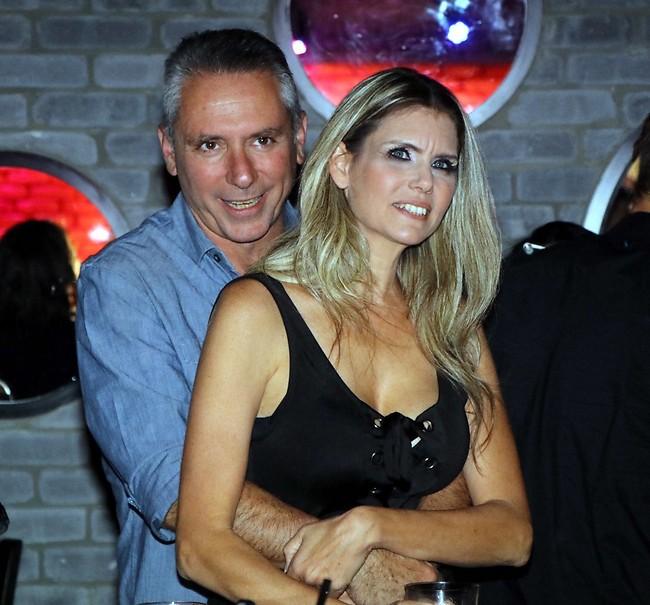 חגיגות היובל. אלון בן דוד חוגג 50 עם אשתו לילך יפה (צילום: אמיר מאירי)