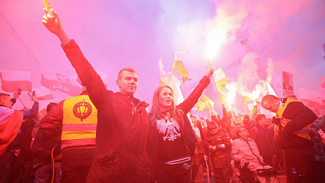 Far-right march on Poland's Independence Day (Photo: EPA)