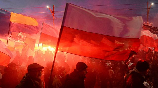 Марш националистов в Варшаве. Фото: АР и ЕРА