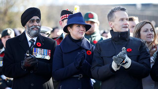 סופי גרגואר טרודו (במרכז), רעייתו של ראש ממשלת קנדה ג'סטין טרודו (צילום: רויטרס) (צילום: רויטרס)