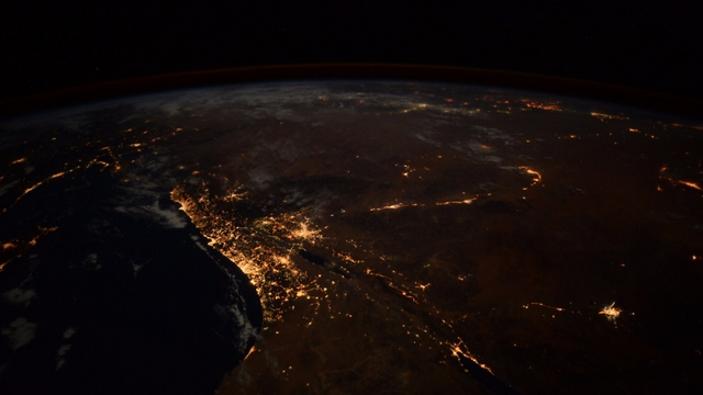 Night time shot (Photo: Randolph Bresnik, NASA)