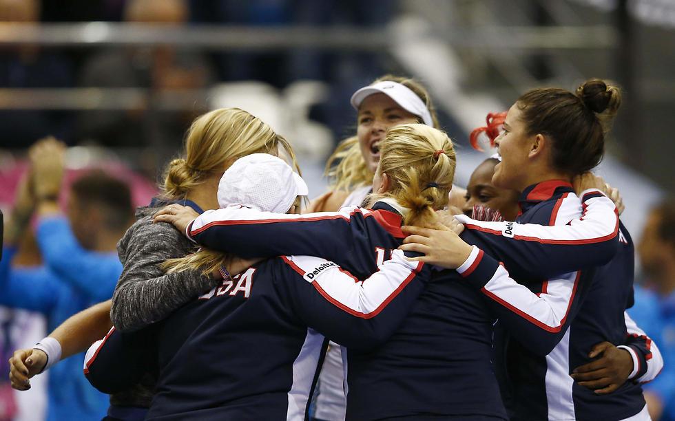 """זכייה 18 בהיסטוריה. נבחרת ארה""""ב (צילום: רויטרס)"""