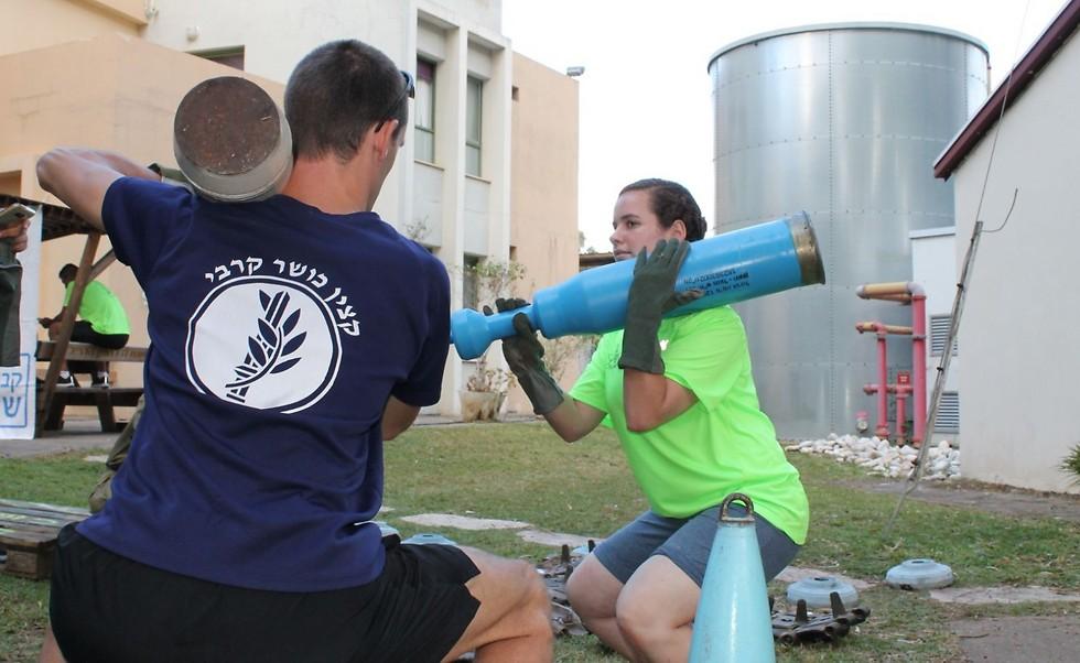 """מיישמים את מגמות האימונים הבולטות בעולם. אימון כושר ייעודי ביום תרבות גופנית למכללות הצבאיות. צילום: דובר צה""""ל (דובר צה""""ל)"""