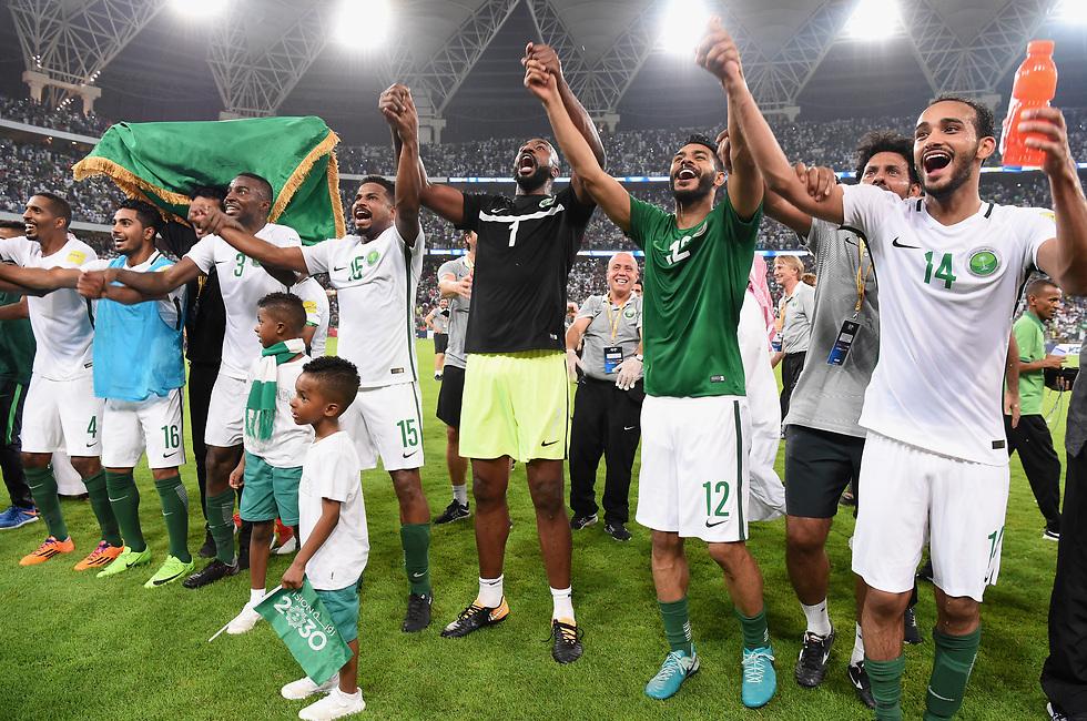 נבחרת סעודיה. החלה את הגל (צילום: getty images) (צילום: getty images)