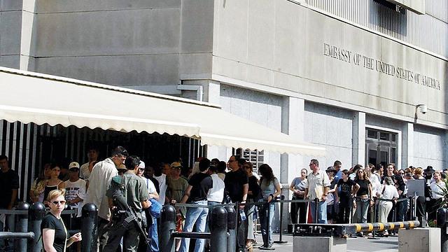 Посольство США в Тель-Авиве. Фото: Моти Кимхи