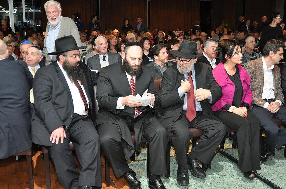 אירוע פתיחת הכנס. מאות יהודים מהאזור (צילום: פייר לביא)