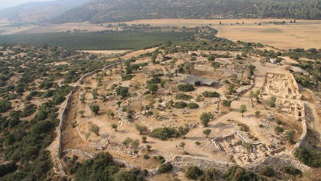 חורבת קיאפה (צילום: מנחם פריד, skyview)