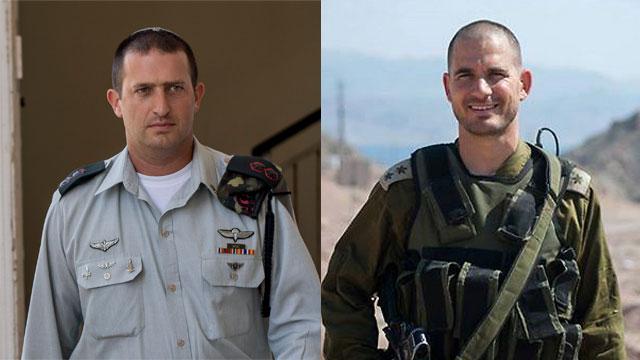 """נריה ישורון (מימין) ודוד שפירא (צילום: דובר צה""""ל, יובל חן) (צילום: דובר צה"""