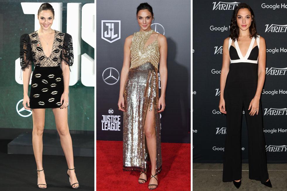 גל גדות השבוע. לא חוששת לבחור בשמלות בעלות גזרה ומראה אמנותי יותר, תוך הפגנת סקסיות מתוחכמת (צילום: rex/asap creative, Gettyimages)