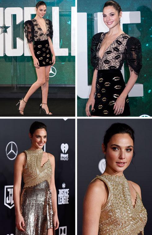 למעלה: שמלת מיני מהקולקציה החדשה של קלייר ווייט קלר לז'יבנשי. למטה: שמלת זהב מקולקציית אביב-קיץ 2018 של אלטוזארה (צילום: AP)