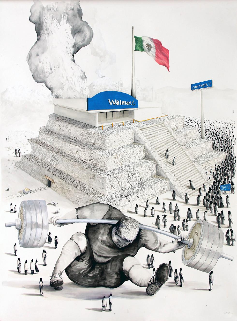 """""""אני תמיד במודעות למה שאני זורק"""" (DOLLARS AND CENTS, ציור מאת רודריגו איימז) (DOLLARS AND CENTS, ציור מאת רודריגו איימז)"""