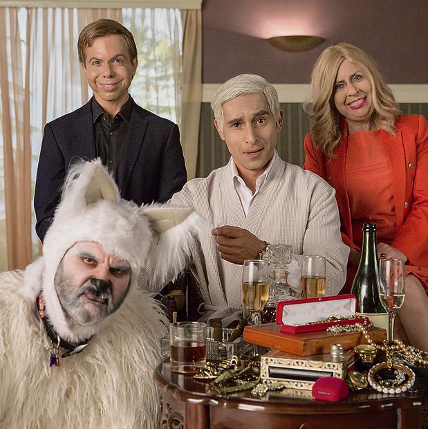 """משפחת נתניהו בגרסת """"ארץ נהדרת"""". בר נתן (עומד משמאל): """"התפקיד של התוכנית הוא להגיב למציאות ולנסות לנשוך"""""""