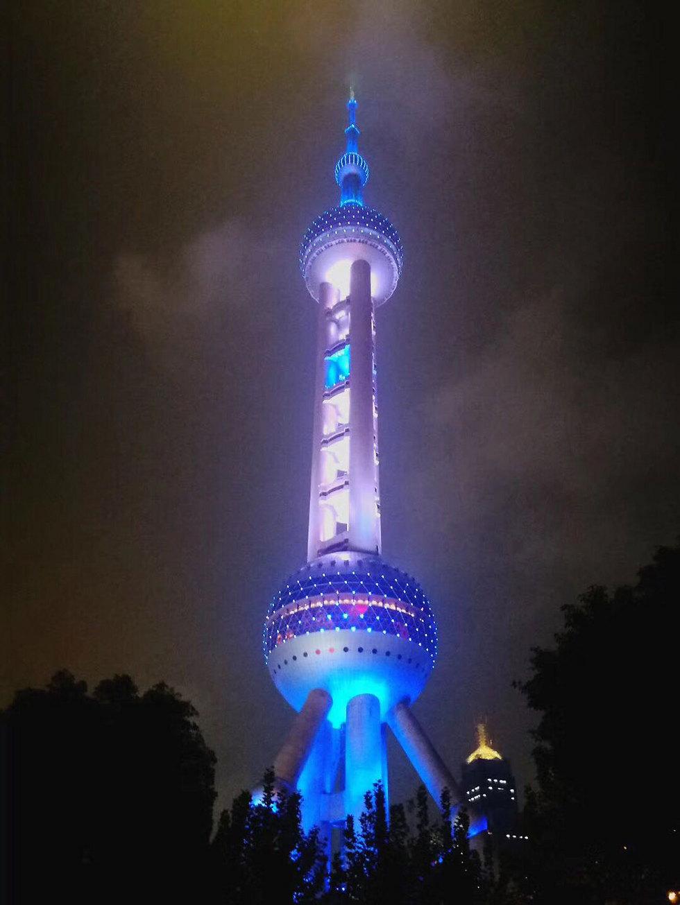 המחווה לישראל במגדל המפורסם בשנגחאי ()