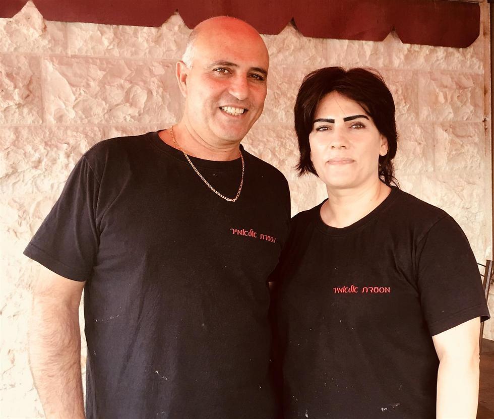 """חיאת ובני, בעלי מסעדת """"אלאמיר"""" (צילום: לין לוי) (צילום: לין לוי)"""
