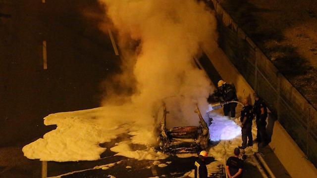 פיצוץ הרכב באיילון. ההרוג והפצוע עזבו את כפר קאסם כי חשו מאוימים (צילום: מוטי קמחי) (צילום: מוטי קמחי)