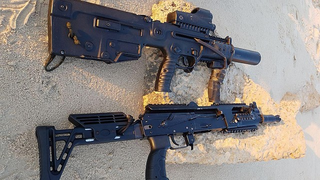 The Kalashnikov and Tavor, currently used by the elite unit