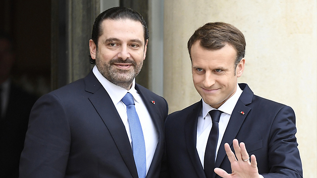 Hariri meets with Macron in Paris (Photo: AFP)