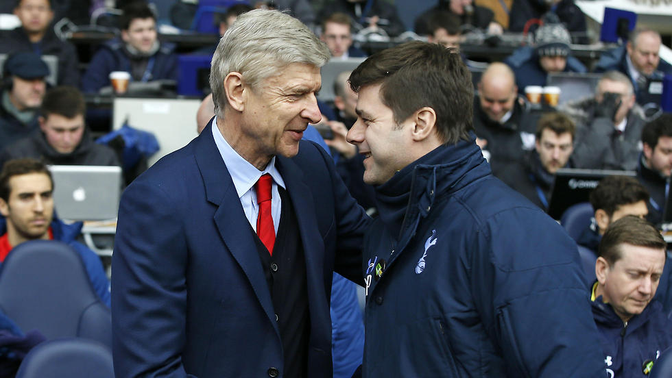 פוצ'טינו עם ונגר במפגש הקודם עם ארסנל (צילום: AP)