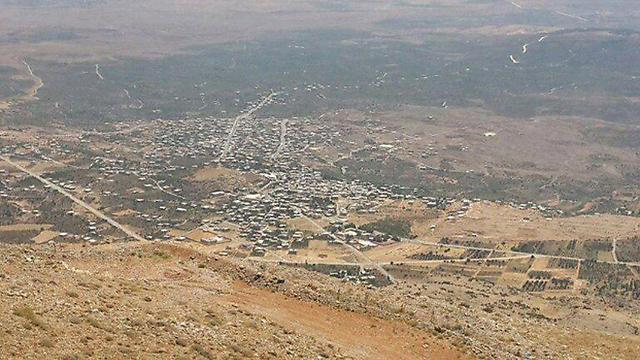 Syrian villages at the foot of Mount Hermon (Photo: Yoav Zitun)