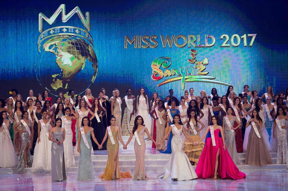 118 מתמודדות מכל העולם בטקס המפואר (צילום: AFP)