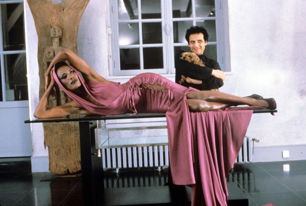 אזדין אלאיה וגרייס ג'ונס, 1985 (צילום: rex/asap creative)