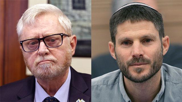 State Comptroller Yosef Shapira versus MK Bezalel Smotrich (Photos: Gil Yohanan, Alex Kolomoisky)