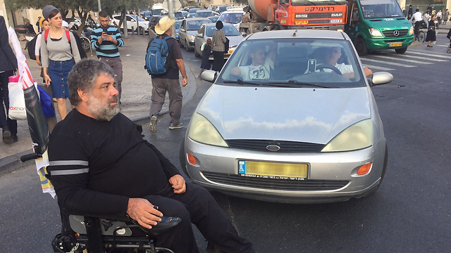 Israel's disabled protest may have achieved its goal, with the government approving an NIS 1.45 increase in disability benefits (Photo: TPS)
