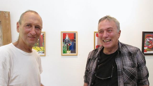 אודי (משמאל) עם אחיו אסי דיין (צילום: שאול גולן) (צילום: שאול גולן)