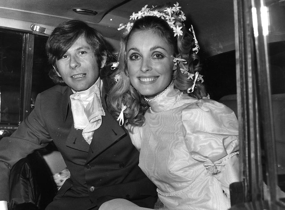 שרון טייט ורומן פולנסקי ביום חתונתם (צילום: gettyimages) (צילום: gettyimages)
